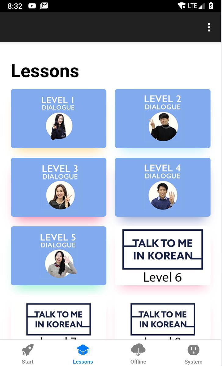 Nhiều bài học đa dạng cùng Ứng dụng học tiếng Hàn KORLINK