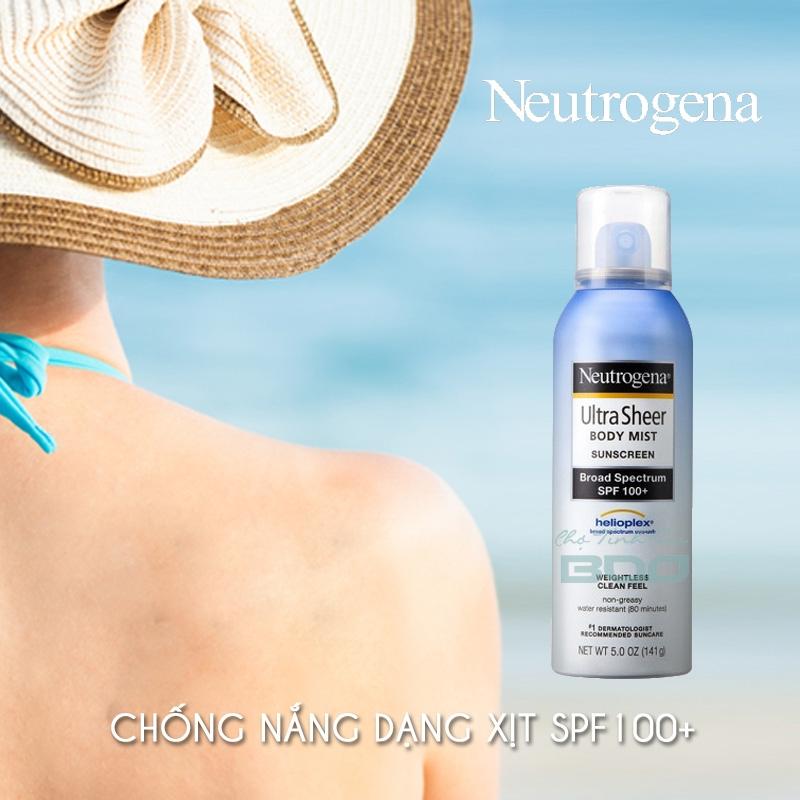 Neutrogena Ultra Sheer Body Mist Sunscreen Broad Spectrum SPF 100+
