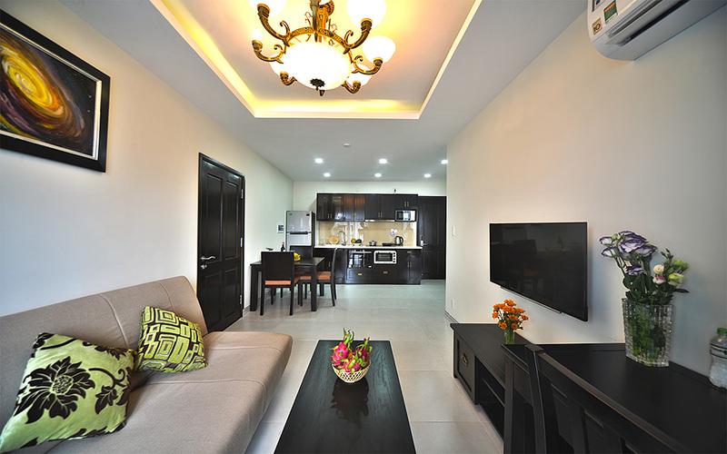 Không gian phòng khách tại căn hộ Kosmos Apartment