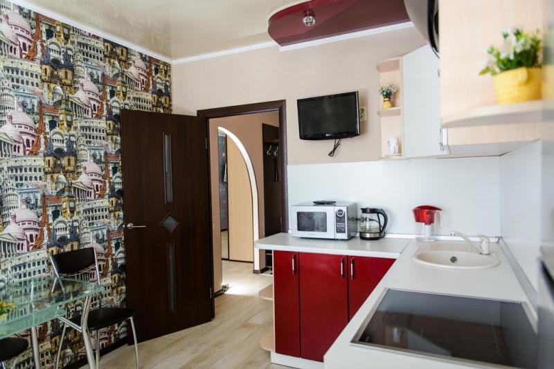 Không gian phòng bếp tại căn hộ Kosmos Apartment