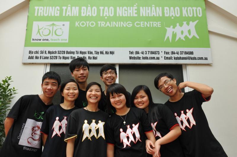 Đối tượng mà KOTO Hanoi hướng đến là những đứa trẻ lang thang không nghề nghiệp