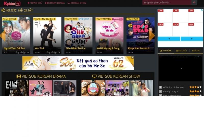 Kphim.tv là trang web luôn dịch những show, phim hot
