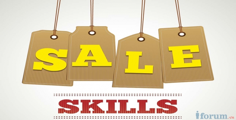 Kỹ năng bán hàng là một yếu tố để quyết định thành công của một người bán hàng giỏi