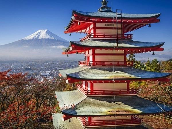 Bạn có thể chiêm ngưỡng vẻ đẹp núi Phú Sĩ từ thành phố