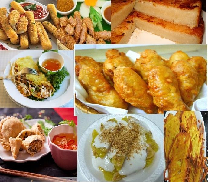 Món ăn đến từ các các vùng miền khác nhau