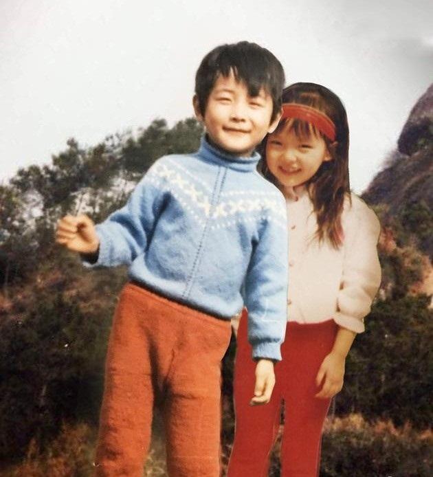Bức ảnh ghép của cặp đôi trên Weibo của La Tấn