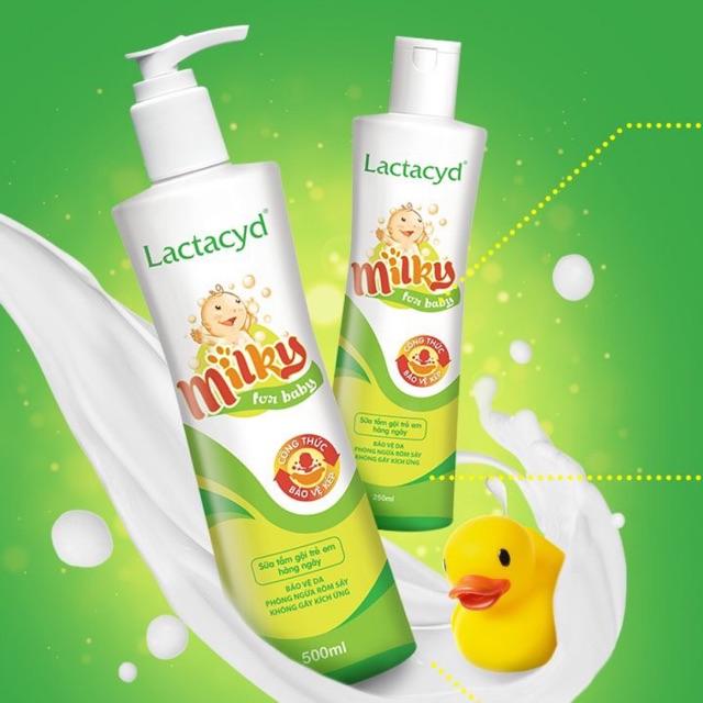 Lactacyd Milky là loại sữa tắm gội hàng ngày.