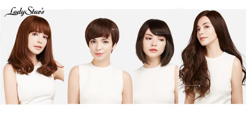 Các mẫu tóc giả đẹp