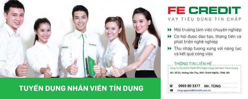 Thông báo tuyển dụng của công ty tài chính Fe