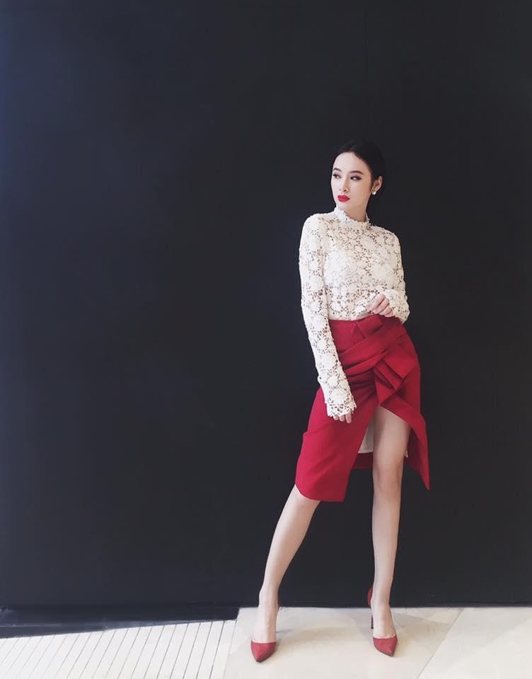 Nữ diễn viên trẻ tài năng Angela Phương Trinh trông thật tươi trẻ trong thiết kế mới nhất từ LAM GIA KHANG