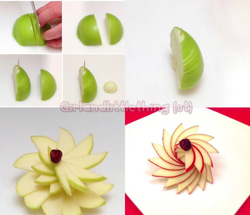 Làm hoa từ quả táo