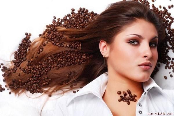 Nhuộm tóc bằng cafe cho màu sang trọng.