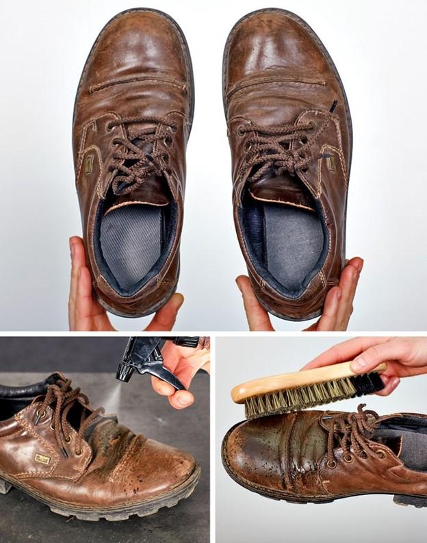 Làm mới giày da