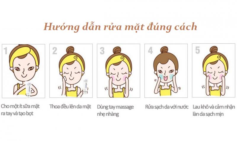 Làm sạch tay trước khi rửa mặt