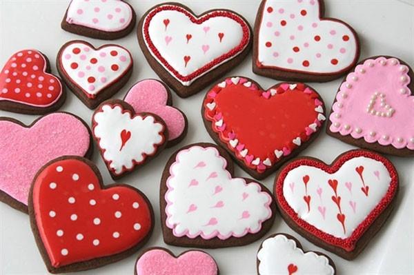 Socola hình trái tim đáng yêu.