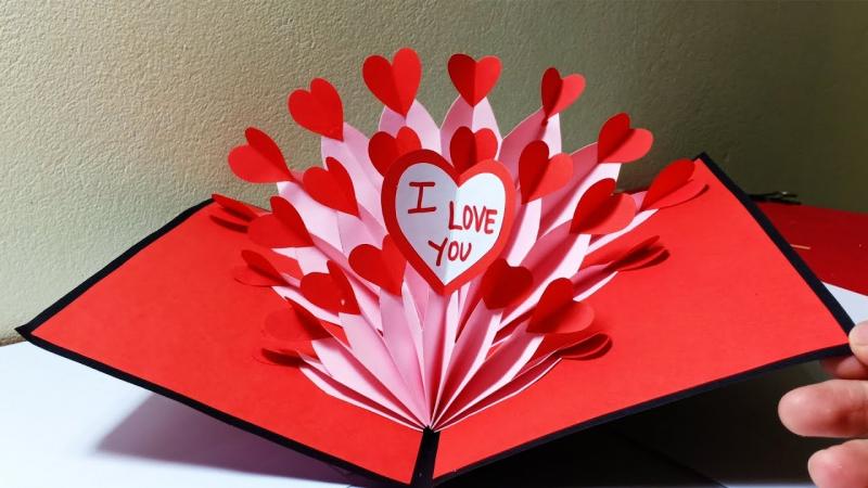 Làm thiệp 20/10 hình trái tim đơn giản mà dễ thương