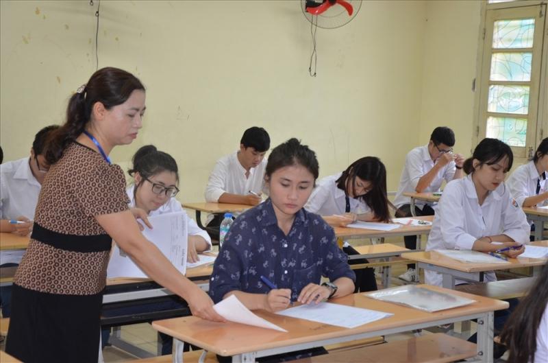 Thời gian giữa hai môn thành phần của bài thi tổ hợp được rút ngắn