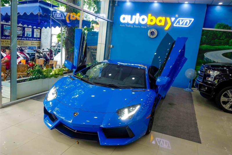 Lamborghini Aventador màu Le Mans Blue cực độc