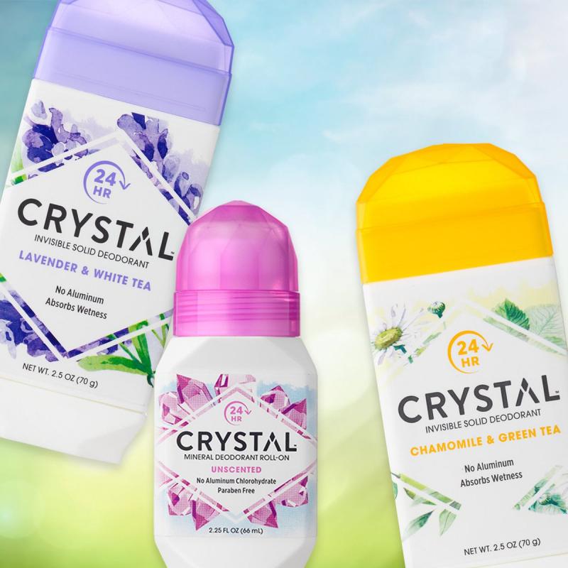 Lăn khử mùi Crystal dạng không mùi an toàn, lành tính, được chứng nhận bởi Trung tâm Điều trị ung thư.