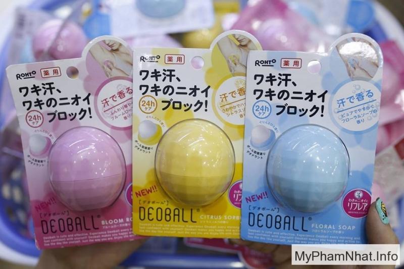 Lăn khử mùi rohto deoball có nhiều mùi hương thơm cho bạn lựa chon