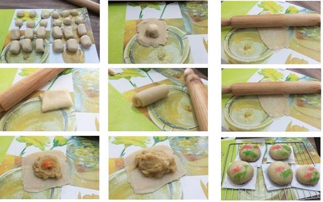 các công đoạn làm bánh pía