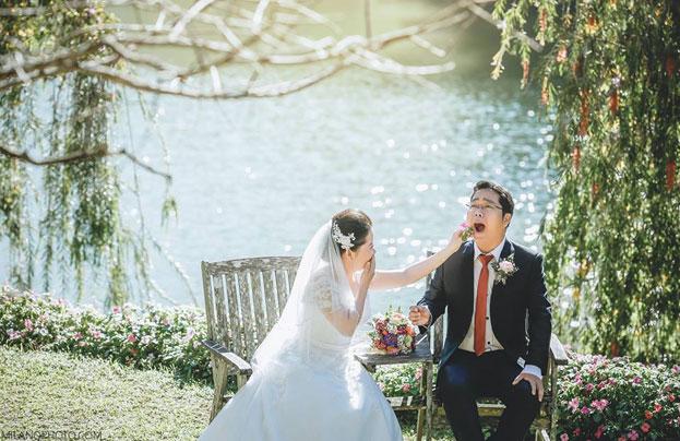 Ảnh cưới tại làng du lịch Bình An Đà Lạt