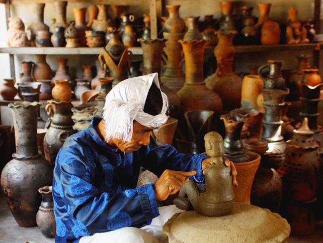 Sản phẩm gốm rất độc đáo, được làm hoàn toàn bằng tay