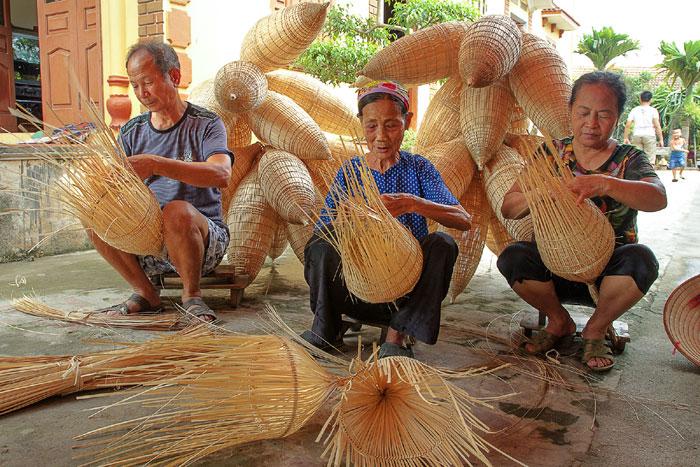 Làng nghề mây tre đan Ninh Sở