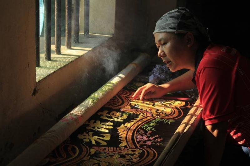 Văn Lâm một làng nghề thêu ren truyền thống của Ninh Bình