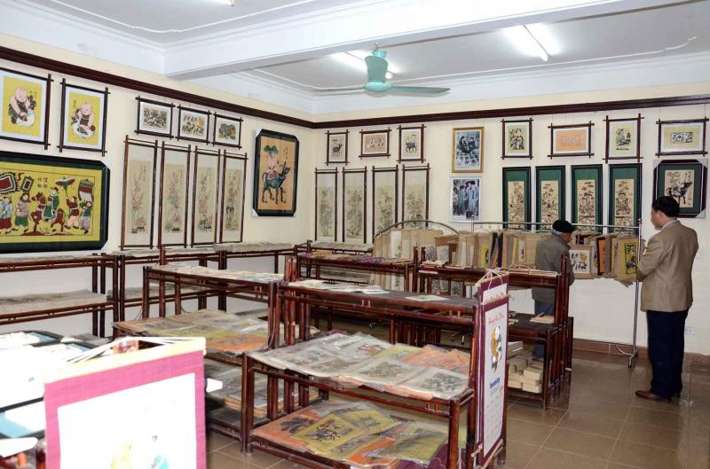 Phòng trưng bày sản phẩm tranh Đông Hồ