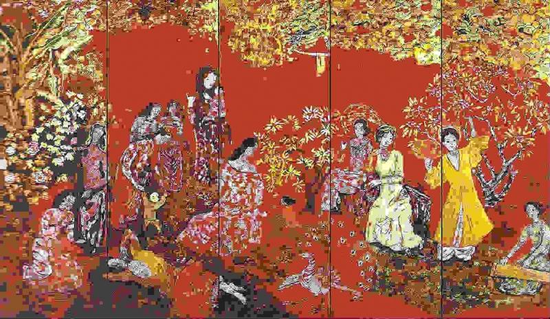 Những sản phẩm tranh sơn mài Bình Dương được người yêu tranh Việt Nam và thế giới ưa chuộng