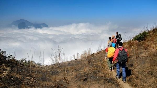 Con đường mòn dẫn tới đỉnh núi Lảo Thẩn