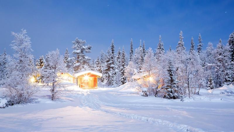 Lapland đẹp lung linh như thiên đường dựng trên nền tuyết