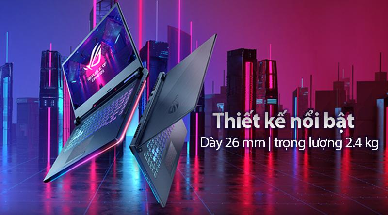 Laptop Asus Gaming ROG Strix G531 i7 9750H/8GB/512GB/6GB RTX2060/Win10 (VAL218T)