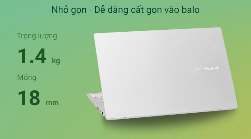 Laptop Asus VivoBook S14 S431 i7 8565U/8GB+32GB/512GB/Win10 (EB131T)