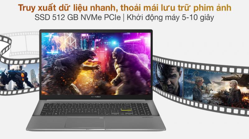 Laptop ASUS VivoBook S533EQ BN338T i5 1135G7/8GB/512GB SSD/MX350 2GB/Win10