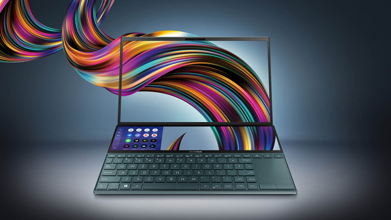 Laptop Asus ZenBook Duo UX481F i5 10210U/8GB/512GB/2GB MX250/Pen/Túi/Win10 (BM048T)