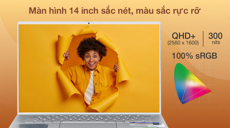 Laptop Dell Inspiron 7400 i5 1135G7/16GB/512GB/2GB MX350/Win10 (N4I5134W)