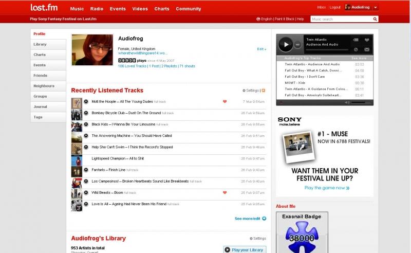 Last.fm là một trang radio trực tuyến khá nổi danh