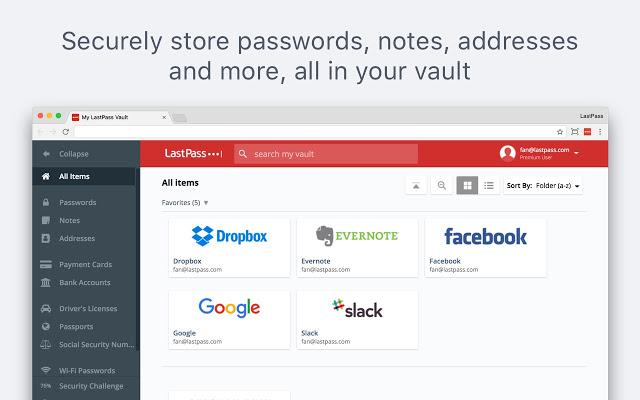 Tiện ích mở rộng LastPass