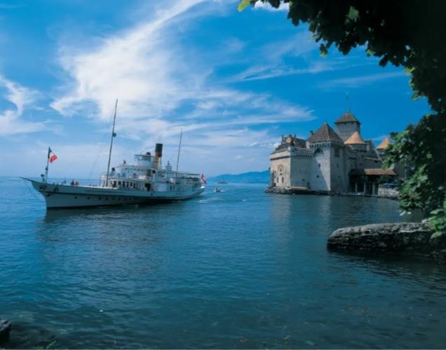 Chillon được cho là lâu đài đẹp nhất Thụy Sĩ