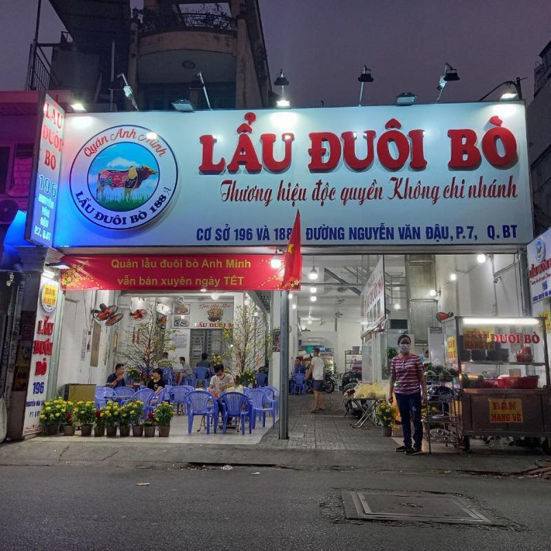 Quán lẩu đuôi bò tại Nguyễn Văn Đậu