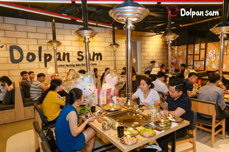 Kết quả hình ảnh cho Lẩu nướng Dolpan Sam