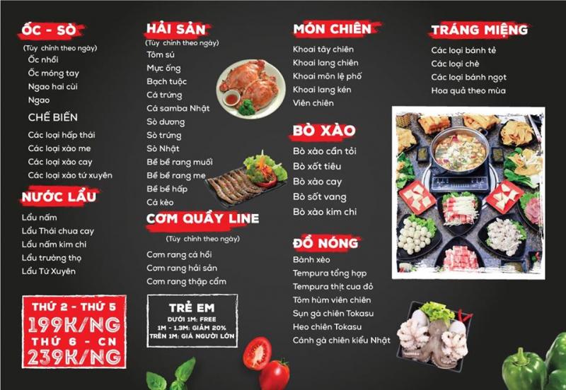 Lên menu thực đơn các món lẩu