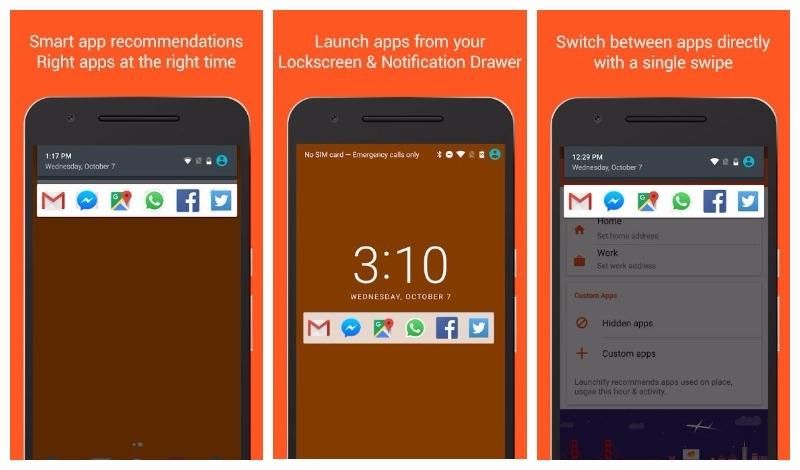 Giao diện ứng dụng Launchify