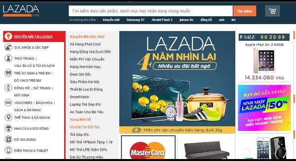 Website của Lazada