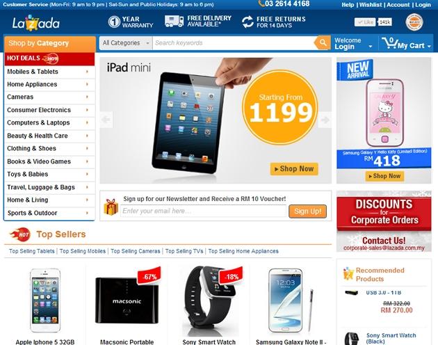 Lazada.vn được biết đến như một website bán hàng trực tuyến tại Việt Nam