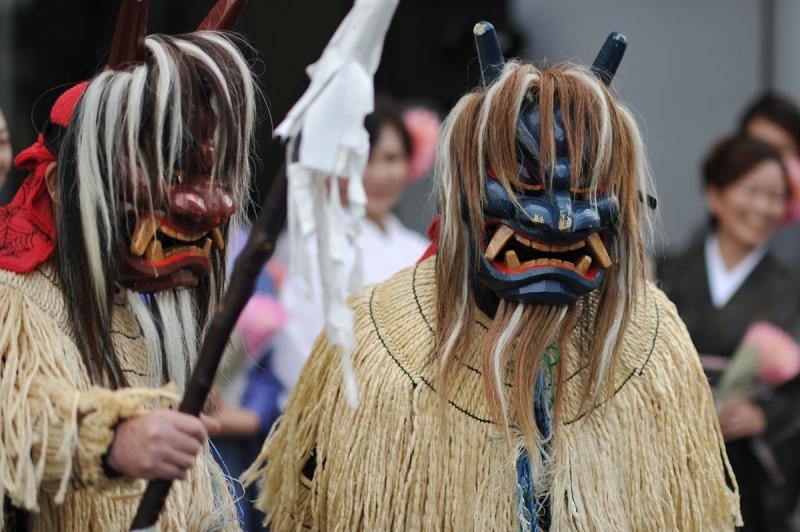 Những chiếc mặt nạ quỷ này có thể khiến nhiều du khách hoảng sợ khi tới tham dự lễ hội Namahage