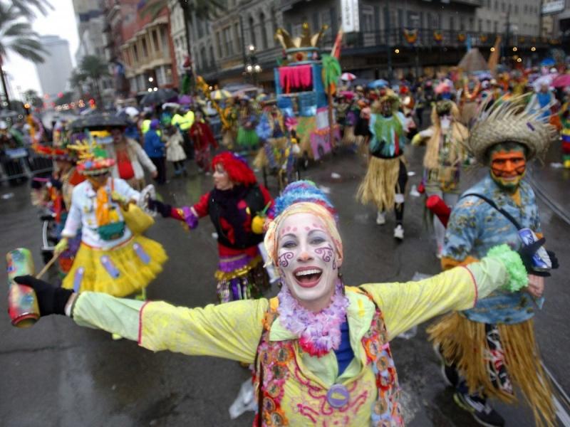 Lễ hội đường phố Mardi Gras, Mỹ