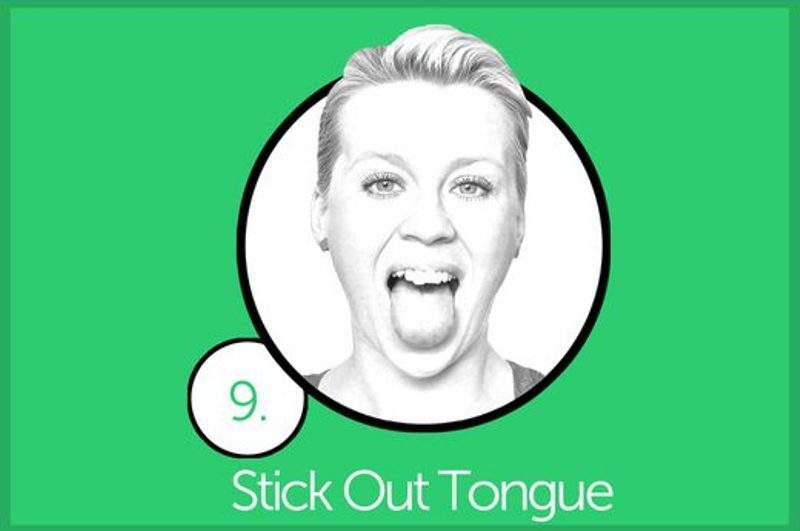Stick out tongue